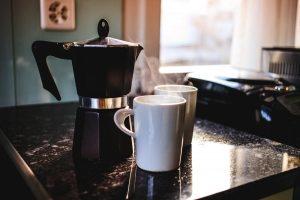 Moka Pot With 2 Cups of Coffee