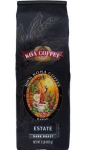 Koa Estate Dark Roast Whole Bean 100% Kona Coffee