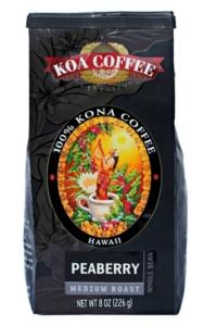Peaberry Medium Roast Whole Bean 100% Kona Coffee